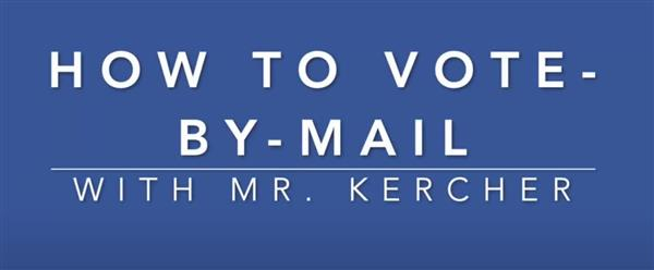 Click here to watch a three minute video on how to vote in this year's election!